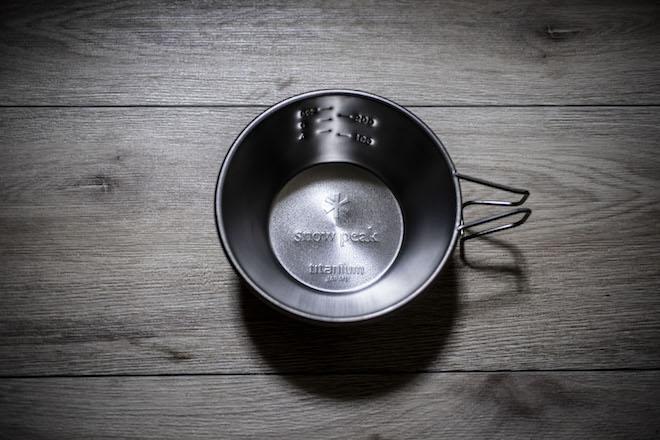スノーピークのシェラカップ
