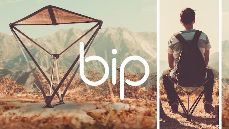 ポータブル折りたたみチェア『Bip(ビップ)』がキャンプに使えそう