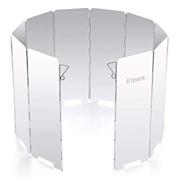 Etpark風除板 ウインドスクリーン 折り畳み式