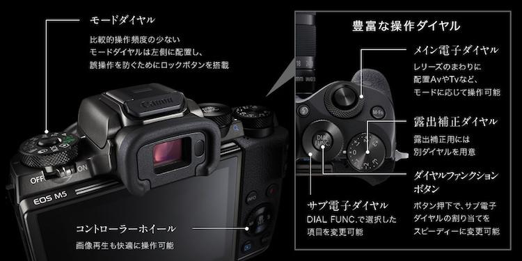 CANON EOS M5の操作性能・使用感