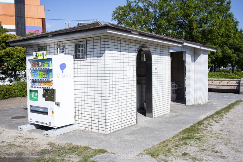 荒子川公園バーベキュー場のトイレ