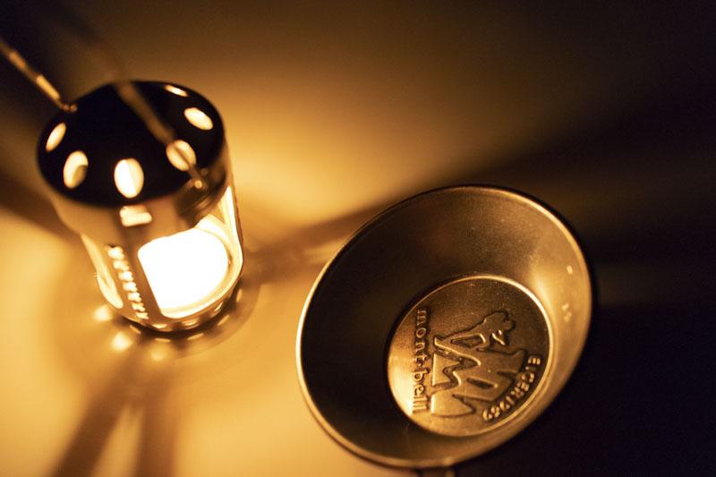 ロゴス・キャンドルランタンの光