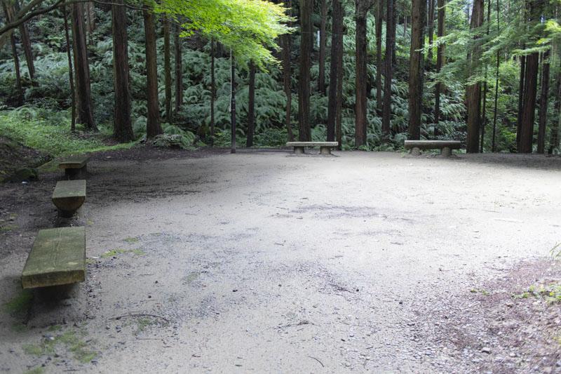 荻不動ヶ滝キャンプ場・やまびこ広場02