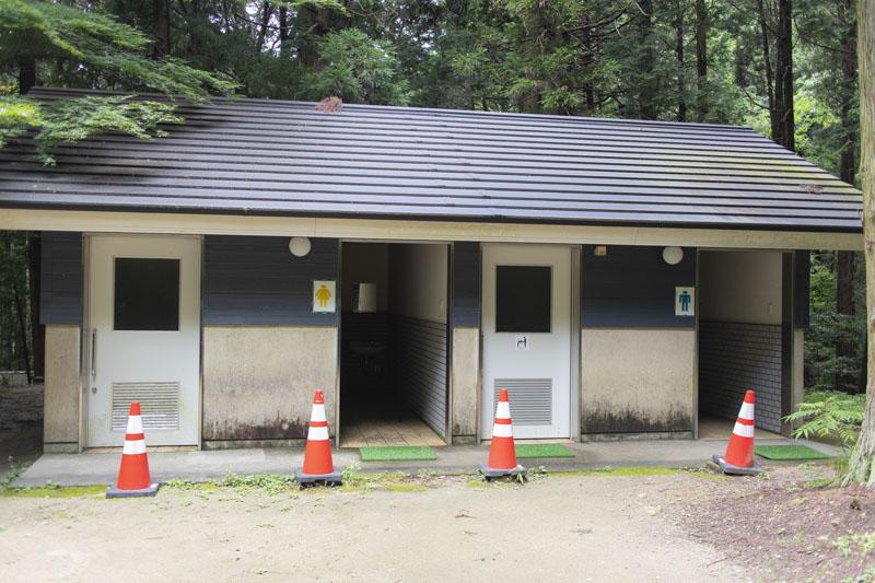 荻不動ヶ滝キャンプ場のトイレ