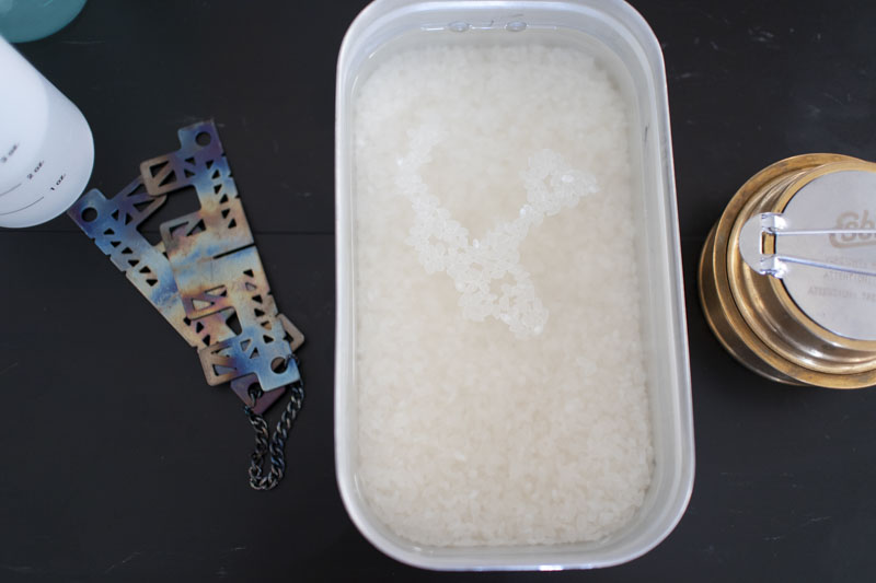 水に浸しす前のお米