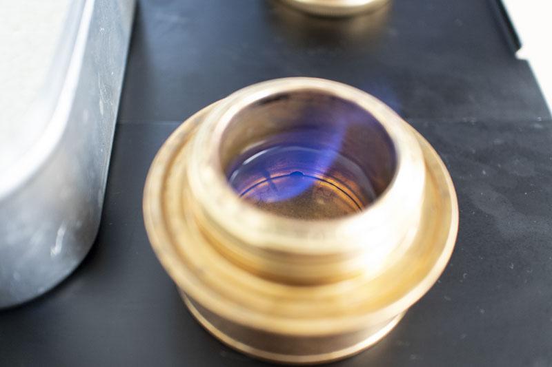 アルコール燃料は30mlで20分前後燃焼