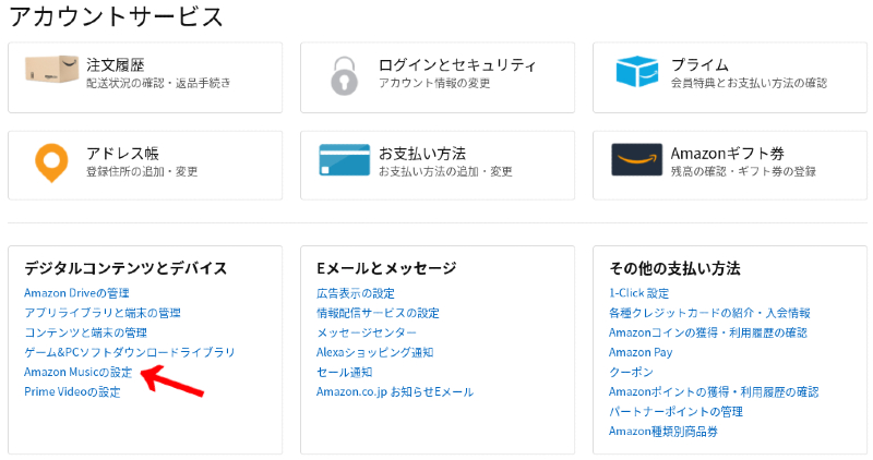 Amazon Music Unlimitedの解約方法01