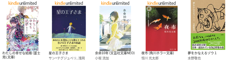 Kindle Unlimitedの読み放題の対象に入っている【文学・評論】